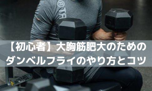 【初心者】大胸筋肥大のためのダンベルフライのやり方とコツ